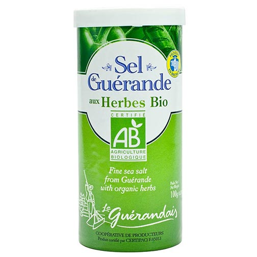 Fine Sea Salt from Guerande with Organic Herbs