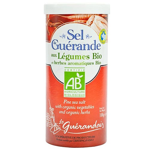 Fine Sea Salt from Guerande with Organic Vegetables and Herbs