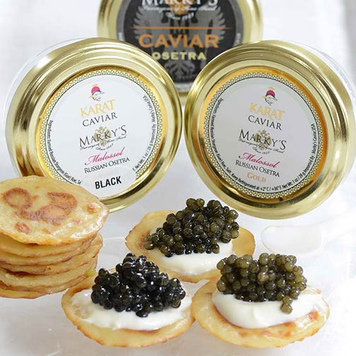 Russian Osetra Classic and Karat Caviar Taster Set