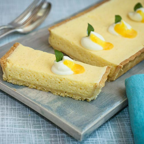 Passion Fruit Mousse Tart Recipe