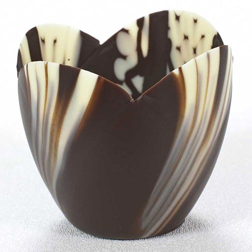 Marbled Chocolate Tulip Cup - 3 Inch