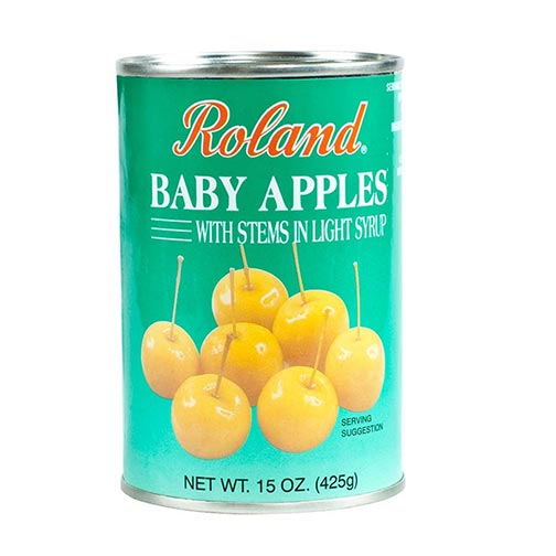 Baby Apples with Stems in Light Syrup