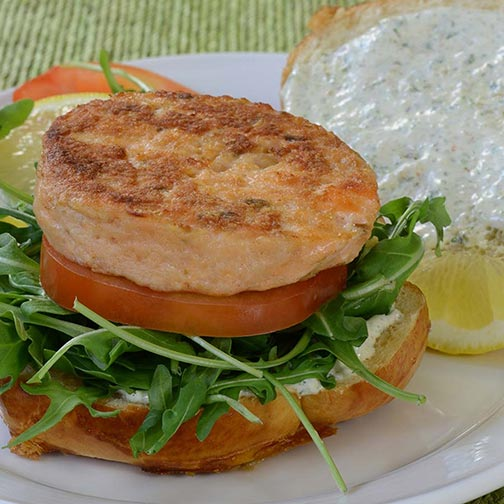 Salmon Burgers - Click to enlarge