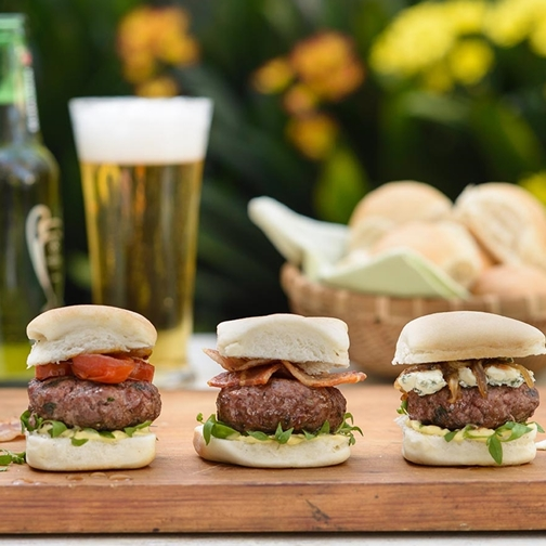 Wagyu Beef and Blue Cheese Mini Burgers Recipe | Gourmet Food World