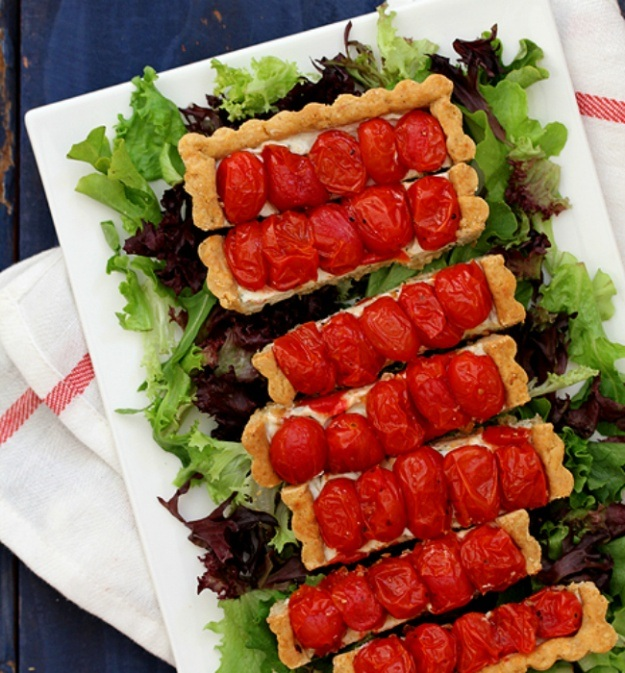 Roasted Cherry Tomato Tart Fourth of July Recipe