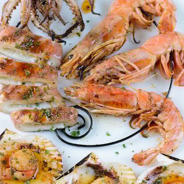 Grilled Seafood With Spiced Citrus Sauce Recipe Memorial Day