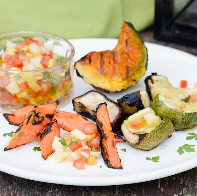 Grilled Vegetables With Pineapple Creole Sauce Recipe Memorial Day