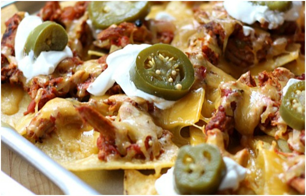 Pulled Pork Nachos by Simply Gloria.